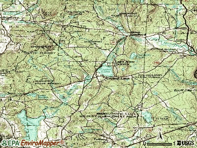 Crystal Lake topographic map