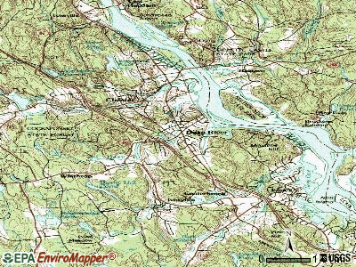 Deep River Center topographic map