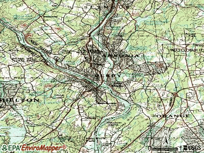 Derby topographic map