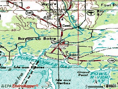 Bayou La Batre topographic map
