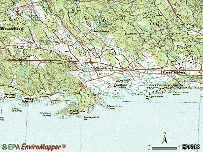 Guilford Center topographic map