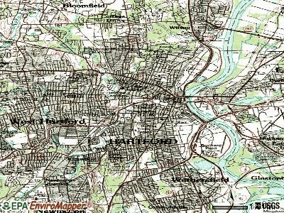 Hartford topographic map