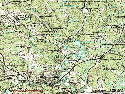 Mansfield Center topographic map