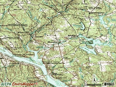 Moodus topographic map