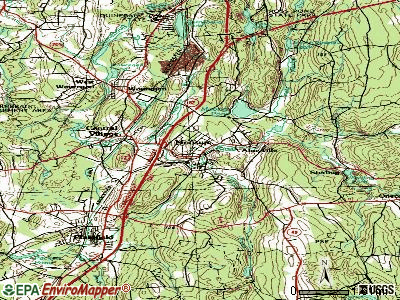 Moosup topographic map