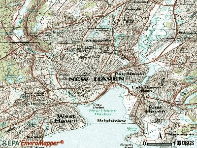 New Haven topographic map