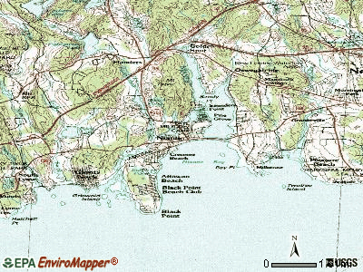 Niantic topographic map