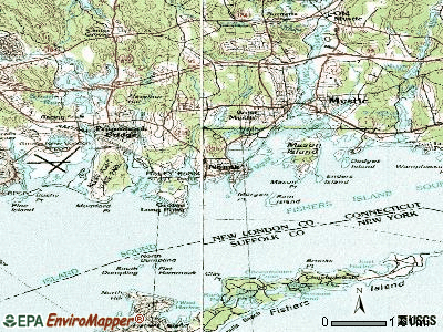 Noank topographic map