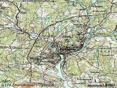 Norwich topographic map