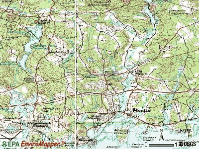 Old Mystic topographic map