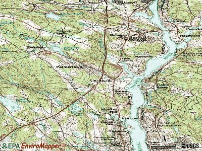 Oxoboxo River topographic map