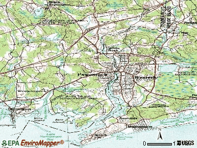 Pawcatuck topographic map
