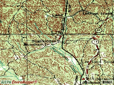 Needham topographic map