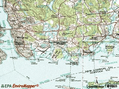 Poquonock Bridge topographic map