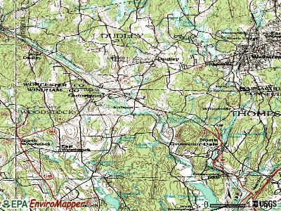 Quinebaug topographic map