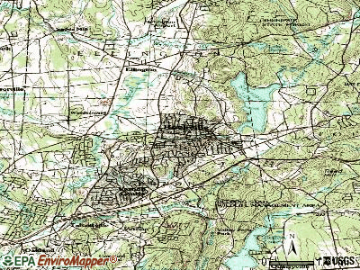 Rockville topographic map