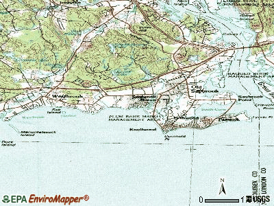 Saybrook Manor topographic map