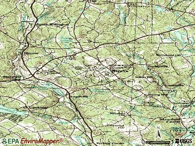 Storrs topographic map