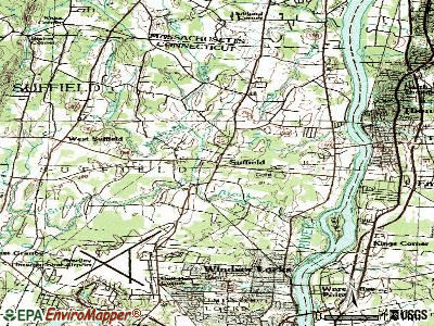 Suffield Depot topographic map