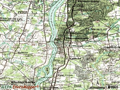 Thompsonville topographic map
