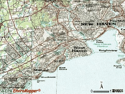 West Haven topographic map