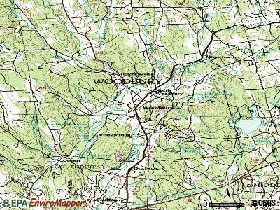 Woodbury Center topographic map