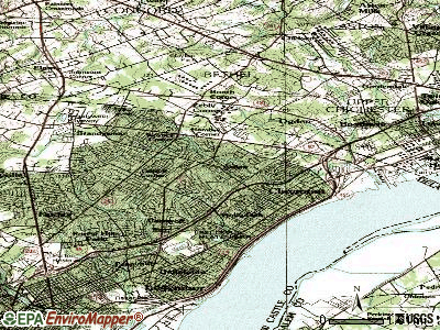 Arden topographic map