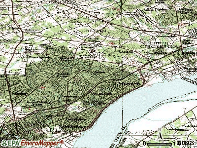 Ardentown topographic map