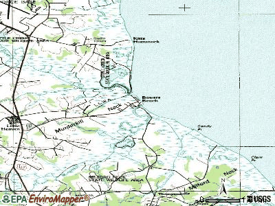 Bowers topographic map