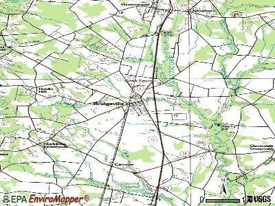 Bridgeville topographic map