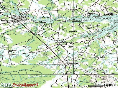 Dagsboro topographic map