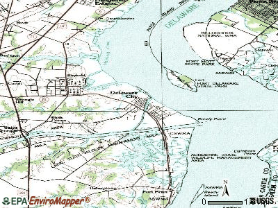 Delaware City topographic map