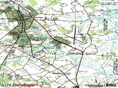 Dover Base Housing topographic map