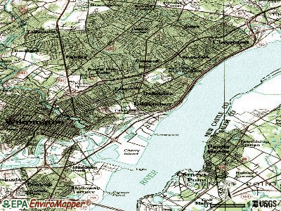 Edgemoor topographic map