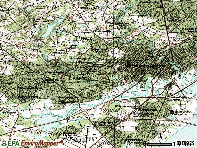 Elsmere topographic map