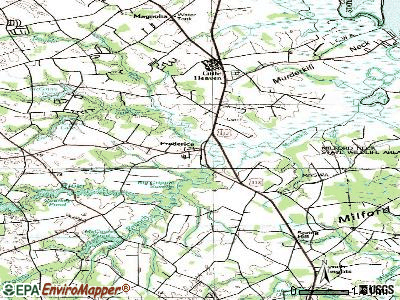 Frederica topographic map