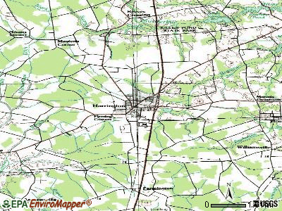 Harrington topographic map
