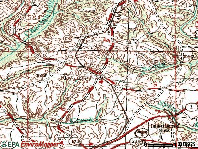 Newville topographic map