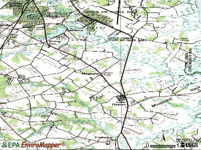 Magnolia topographic map