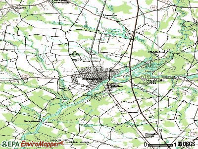 Seaford topographic map