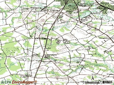 Woodside East topographic map