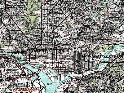 Washington topographic map
