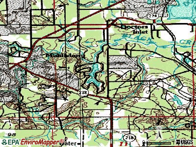 Asbury Lake topographic map