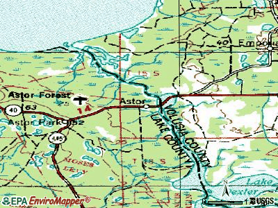 Astor topographic map