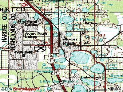 Avon Park topographic map
