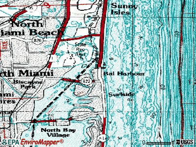 Bal Harbour topographic map