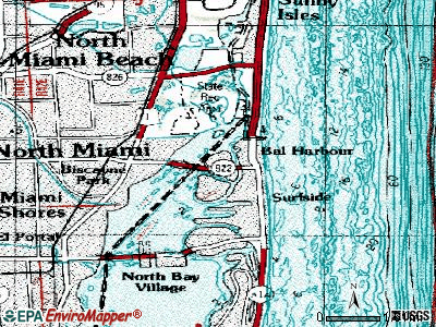 Bay Harbor Islands topographic map