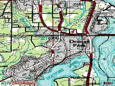 Bellair-Meadowbrook Terrace topographic map
