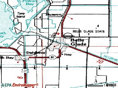 Belle Glade topographic map