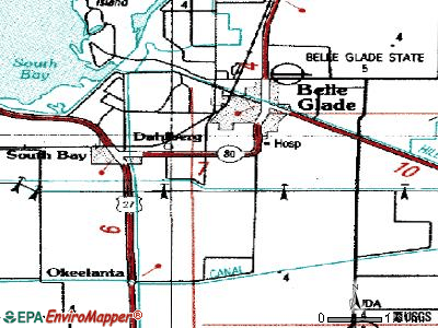Belle Glade Camp topographic map